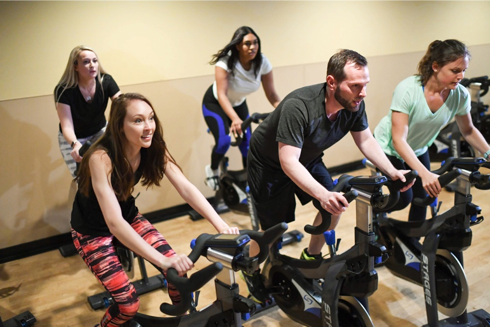 Group Spinning Class at Colorado Athletic Club - DTC