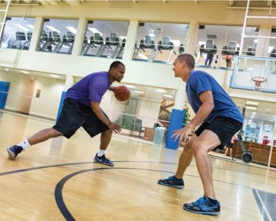 One on One Basketball Game at Colorado Athletic Club - Flatirons