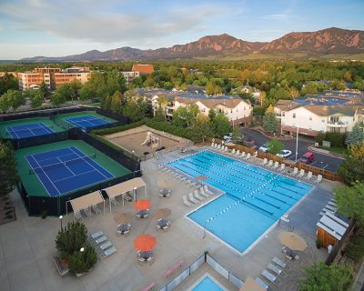 Outdoor Swimming Pool and Tennis Courts | Wellbridge Clubs