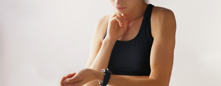 Checking fitness watch
